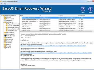Khôi phục email đã xóa trong outlook
