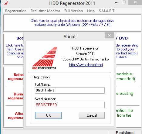 phần mềm hdd regenerator