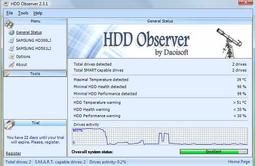 phần mềm HDD Observer