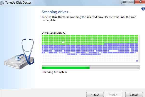 phần lỗi fix Hard Disk Tune Up